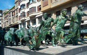 Monumento al Encierro de Pamplona.